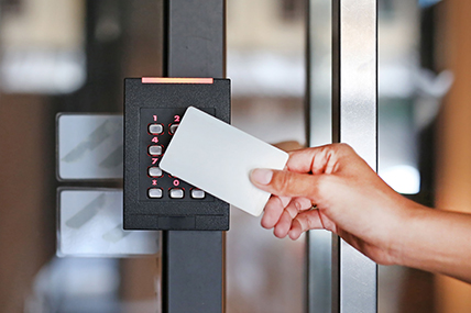 Business Phone Systems Company Installing an Access Control in a Pasco County Office