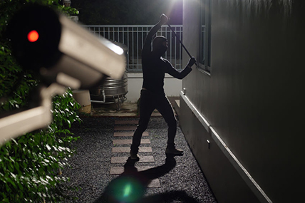 Burglar Robbing a Wesley Chapel Home Recorded by a CCTV System
